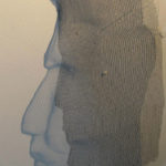 Drahtplastiken mit Schatten